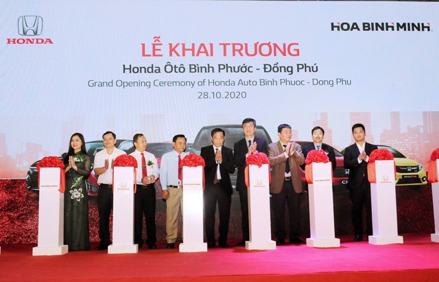 Tập đoàn Hòa Bình Minh: Khai trương đại lý Honda Ô tô đạt chuẩn 5S tại Bình Phước